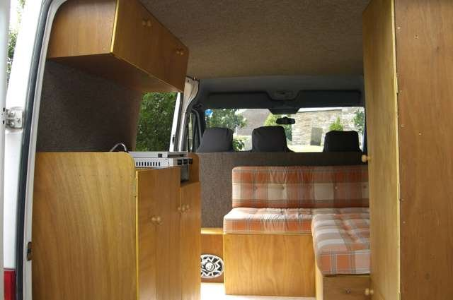 L Shape Or Along The Van Seating