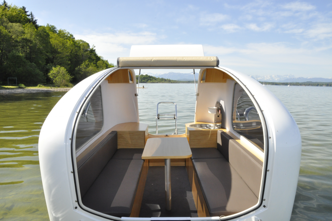 Sealander, a towable trailer that's both a camper and a boat